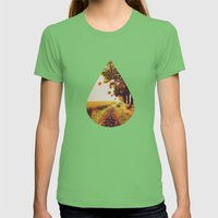 Autumn Tree. Womens Fitted Tee Grass SMALL