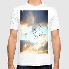 Don't Break Formation White Mens Fitted Tee SMALL