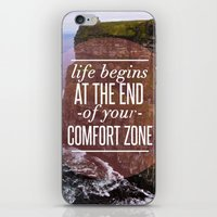 The End Of Your Comfort Zone iPhone & iPod Skin