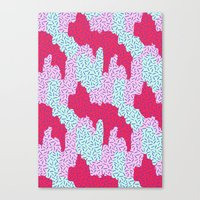 Candy Camouflage Canvas Print