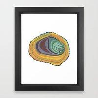 Tree Stump Series 1 - Illustration Framed Art Print