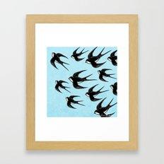 Andorinhas Framed Art Print