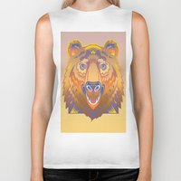 Graphic Abstraction Biker Tank