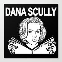 Dana Scully (black) Canvas Print