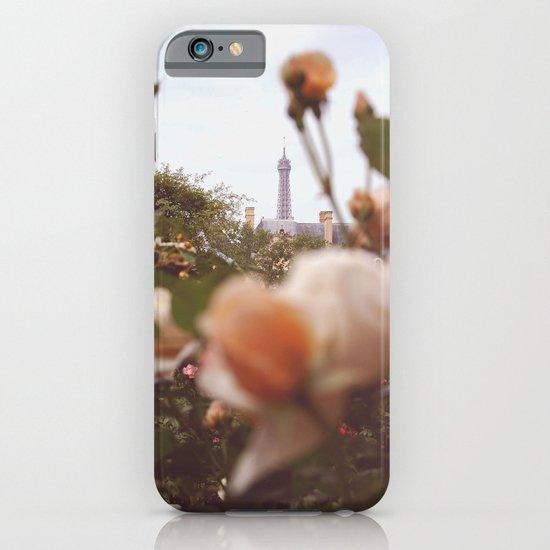 Flowers grow in Paris iPhone & iPod Case