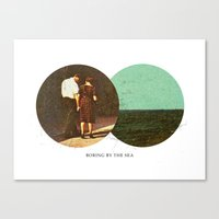 Boring By The Sea | Coll… Canvas Print