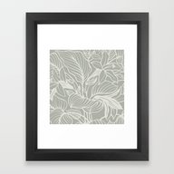 Framed Art Print featuring Oyster Bay Floral by Beautiful Homes