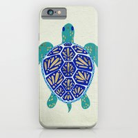 sea iPhone & iPod Cases featuring Sea Turtle by Cat Coquillette