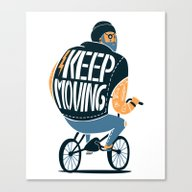 Canvas Print featuring Keep Moving by SpazioC