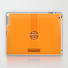 Stop pretending art is hard (orange) Laptop & iPad Skin