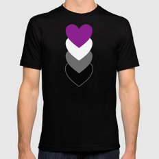 Asexuality in Shapes SMALL Mens Fitted Tee Black