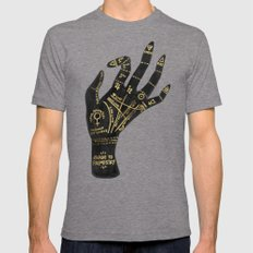 Palmistry Mens Fitted Tee Tri-Grey SMALL