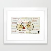 Bike benefit (eng) Framed Art Print