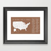 The Hand-Painted Nationa… Framed Art Print