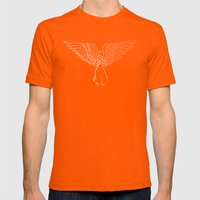 Angel In White 1 Mens Fitted Tee Orange SMALL