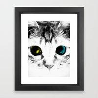 CAT'S EYES Framed Art Print