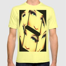Puzzled Mens Fitted Tee Lemon SMALL