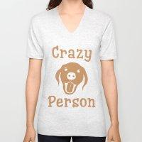 Crazy Dog Person [FOR WHITE] Unisex V-Neck