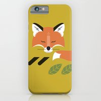 iPhone & iPod Case featuring Resting Fox by Steph Dillon