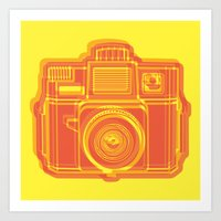 I Still Shoot Film Holga Logo - Yellow & Red Art Print