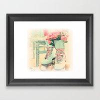 pretty skates Framed Art Print