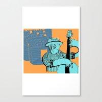 folk double bass Canvas Print
