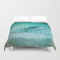Turquoise Wave - Blue Water Scene Duvet Cover