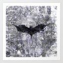 bat man symbol Art Print