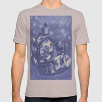 Christmas Night Mens Fitted Tee Cinder SMALL