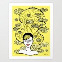 Lemon Grass Art Print