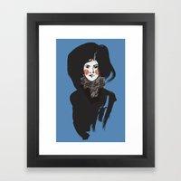 Mystery Blue Framed Art Print