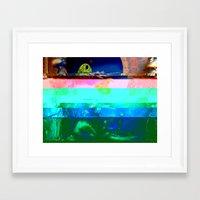 Creature Glitch Framed Art Print