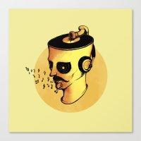 Record Player - ANALOG zine Canvas Print