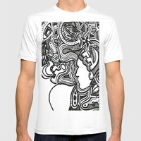 Techno Mens Fitted Tee White SMALL