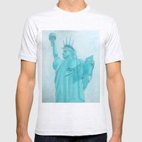 BROOKLYN LIBERTY Mens Fitted Tee Ash Grey SMALL
