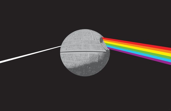 The Darth Side of the Moon: Episode IV Alderaan Canvas Print