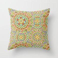 Rainbow Candy Trinkets Throw Pillow