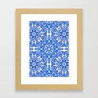 Cobalt Blue & China Whit… Framed Art Print