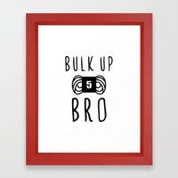 bulk up bro funny yarn knit crochet Framed Art Print