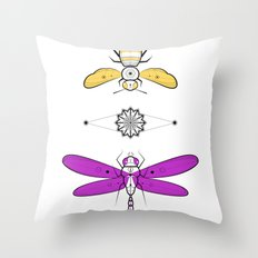 Two Insects Throw Pillow