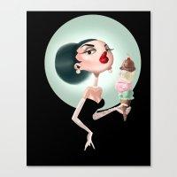 Glamour Ice Cream Canvas Print