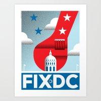 FIX DC Art Print