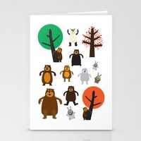 Bears, Grizzly And Other Stationery Cards