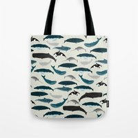 Whales and Porpoises sea life ocean animal nature animals marine biologist Andrea Lauren Tote Bag