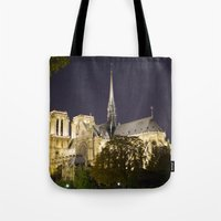 Notre Dame at Night Tote Bag