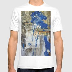 Blue Bird 2 White Mens Fitted Tee SMALL
