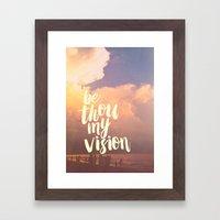 MY VISION Framed Art Print