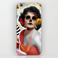 Golden Elizabeth Taylor (Sugar Skull Variant)  By Zabu Stewart iPhone & iPod Skin