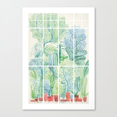 Winter in Glass Houses I Canvas Print