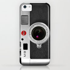 classic retro Black silver Leather vintage camera iPhone 4 4s 5 5c, ipod, ipad case iPhone 5c Slim Case